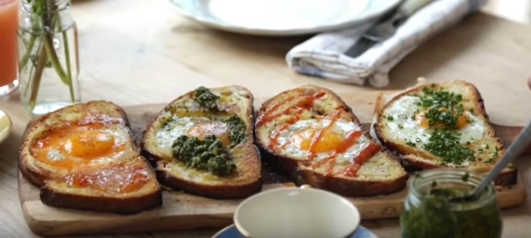 Ekmekte yumurta