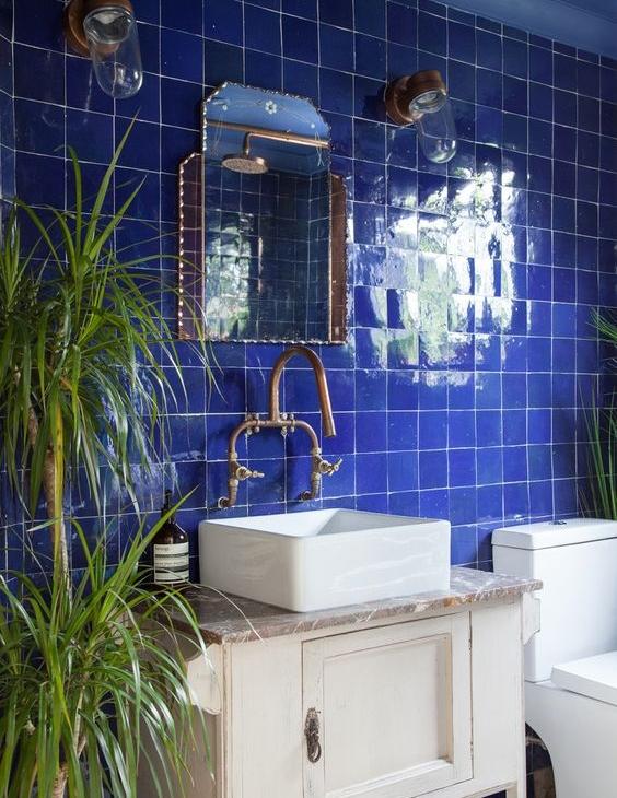 Renkli banyo modelleri