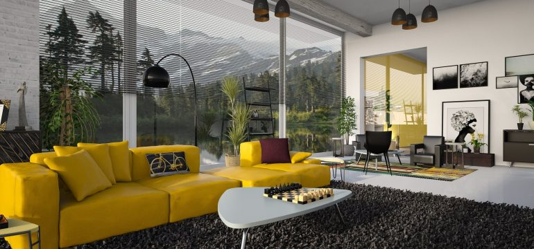 Dekorasyonda renkli koltuk
