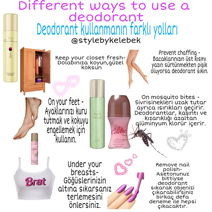Deodorant kullanmanın farklı yolları