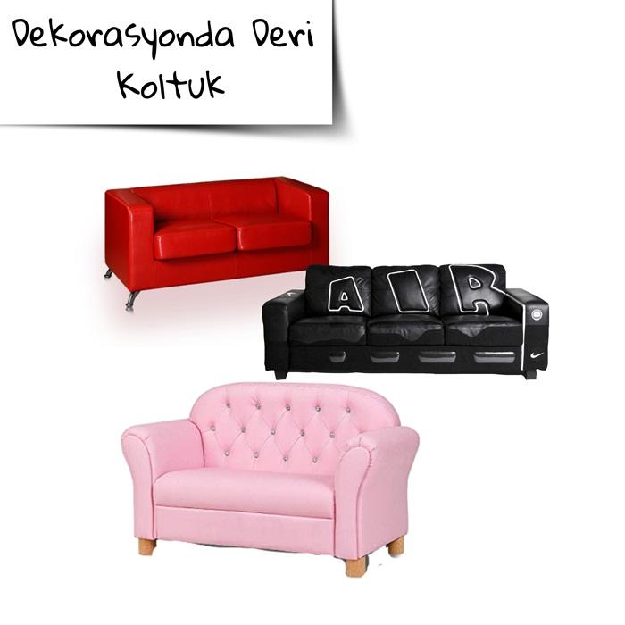 Deri koltuk dekorasyon fikirleri